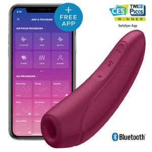 Satisfyer Curvy 1 Plus, Lufttrycksvibrator med App